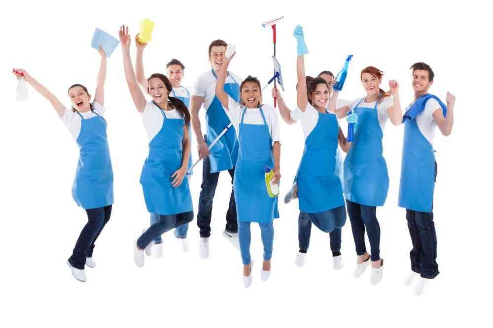 Profesionales de limpieza de oficinas