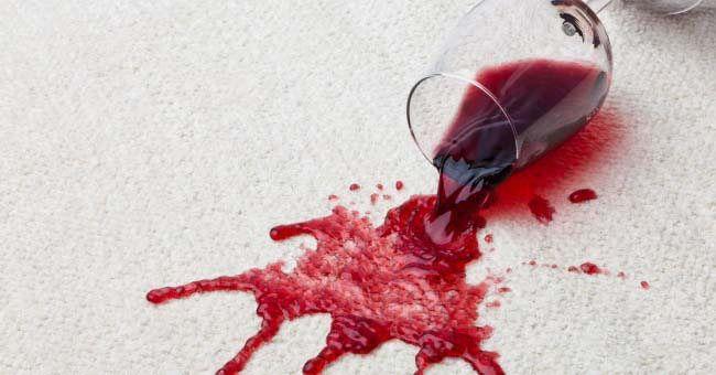 Cómo limpiar manchas de vino